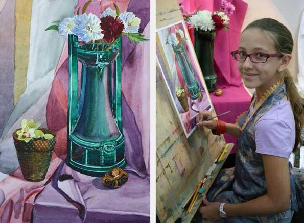 Живописи гуашью и курсы акварели
